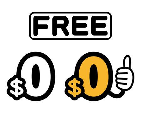 $0 無料 サムズアップ(ベクターアイコンセット)
