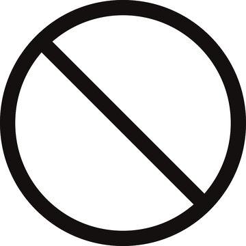 余白の広い黒色の禁止マークのベクターイラスト no.01