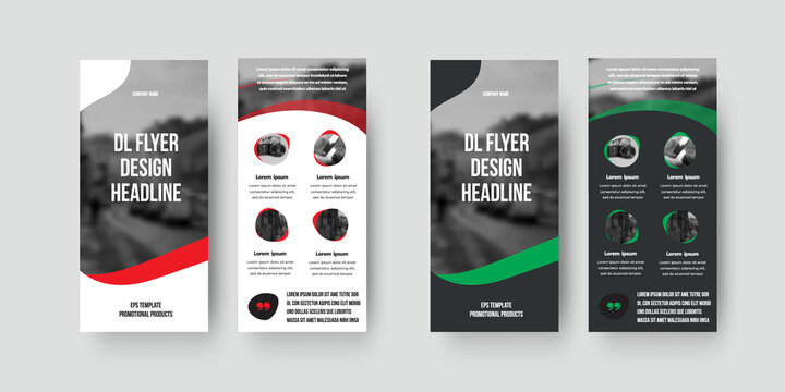 Vector dl flyer template with color geometric design