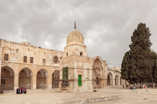 The Al Othmania Dome on the Temple Mount in the Old Town of Jerusalem in Israel