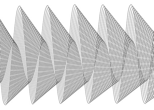 Design elements. Wave of many lines. Abstract vertical wavy stripes on white background isolated. Creative line art. Vector illustration EPS 10. Colourful waves with lines created using Blend Tool