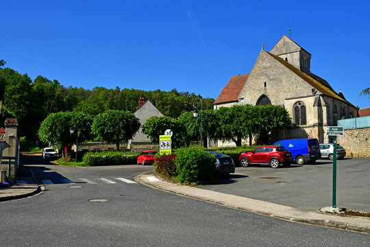 Arthies, France - may 26 2020 : picturesque village