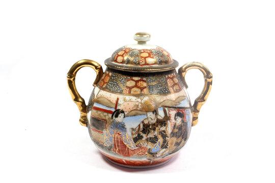 Vintage Cup or Jar Vase On A White Background for Decoration