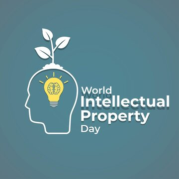 Vector illustration concept of World Intellectual Property Day, 26 April.