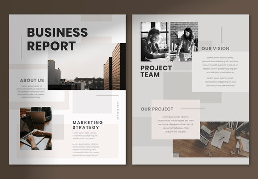Business Report Flyer Layout
