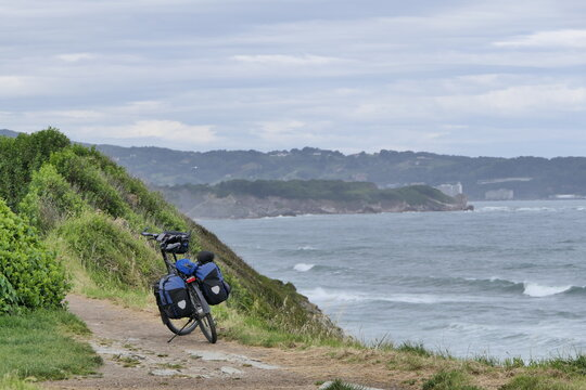 The rough coast and the touring bike. What an adventure.
