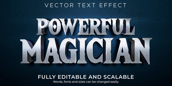 Magician editable text effect, historic and wizard text style