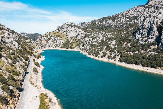 lake of Gorg Blau close to Sa Calobra, Mallorca, Spain