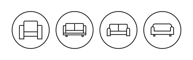 Obraz Sofa icon set. sofa icon illustration - fototapety do salonu