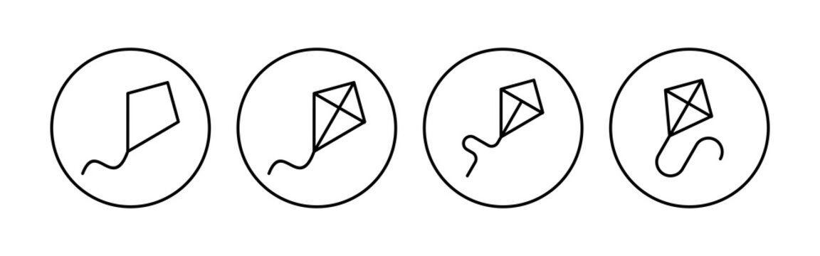 Kite icon set. kite vector icon.