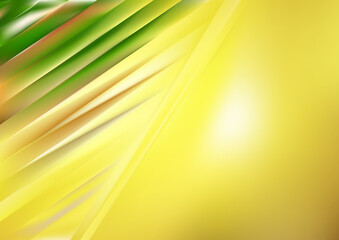 Abstract Green and Yellow Diagonal Shiny Lines Background Wall mural