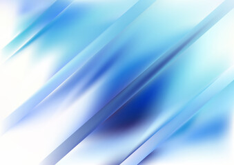 Blue and White Diagonal Shiny Lines Background Vector Image Wall mural