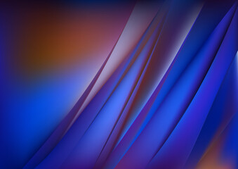 Abstract Blue and Orange Diagonal Shiny Lines Background Wall mural