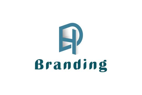 Letter DH business logo design