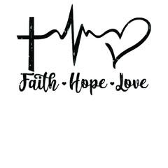 Fototapeta faith hope love christian love jesus gift wo sport illustrator vector poster design obraz