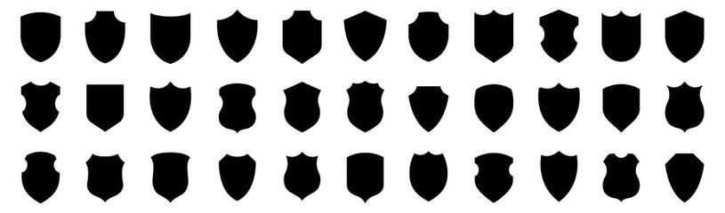 Fototapeta Shield icons collection. Protect shield set. Set of shields. Protection. Different shields. obraz