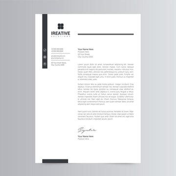 Clean and Modern Letterhead Template