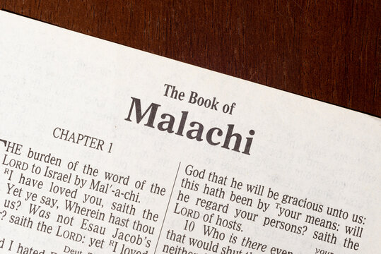 The Book of Malachi Title Page Close-up