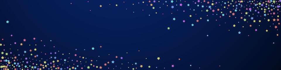 Fototapeta Festive terrific confetti. Celebration stars. Colo