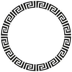 Fototapeta Round African or Greek border frame design. obraz