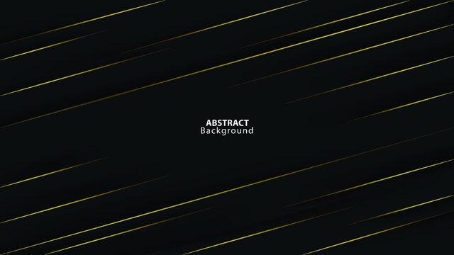 abstract dark black background golden line