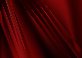 Shiny Cool Red Straight Lines Abstract Background Vector Illustration Wall mural
