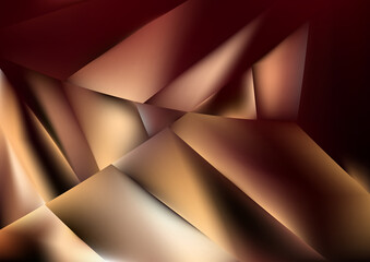 Red and Brown Shiny Geometric Background Wall mural
