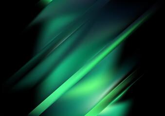 Green and Black Diagonal Shiny Background Vector Image Wall mural
