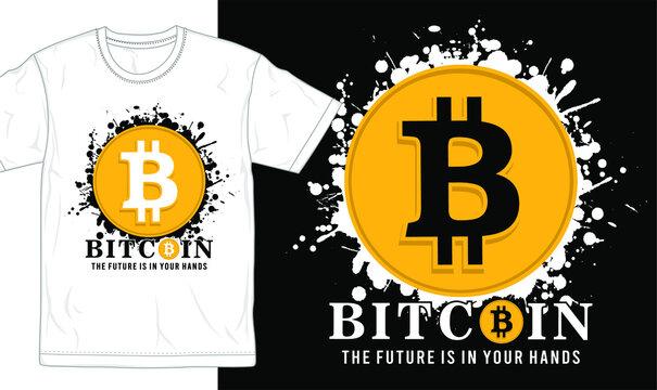 bitcoin slogan and logo t shirt design