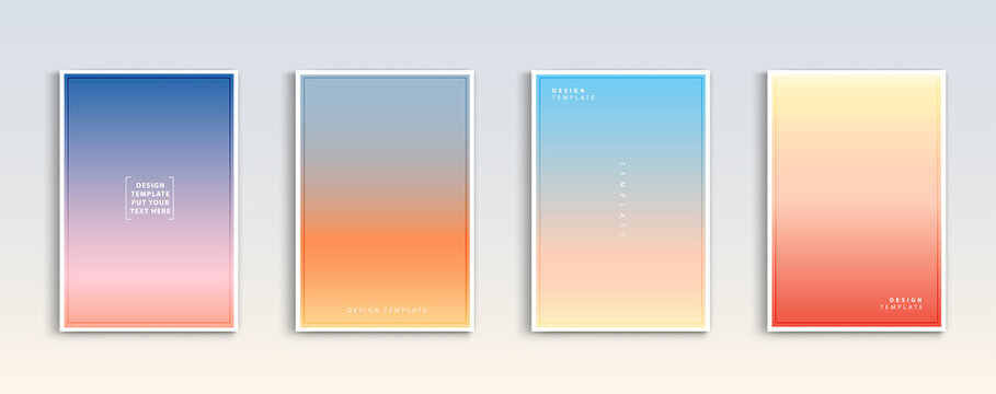 Modern gradients summer, sunset and sunrise sea backgrounds vector set. color abstract background for app, web design, webpages, banners, greeting cards. Vector illustration design