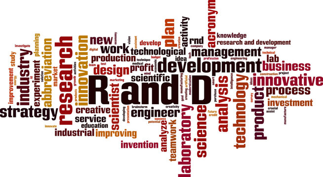 R and D word cloud