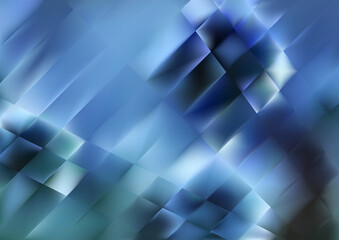 Abstract Dark Blue Geometric Background Illustration Wall mural