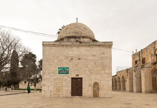 The Qubbet  Musa - the Dome of the Moses on the Temple Mount in the Old Town of Jerusalem in Israel