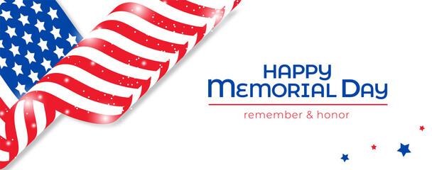Fototapeta Happy Memorial Day Banner