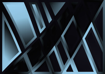 Black and Blue Geometric Abstract Background Wall mural