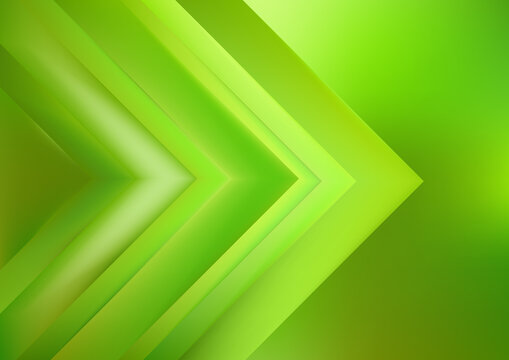 Abstract Lime Green Shiny Arrow Background