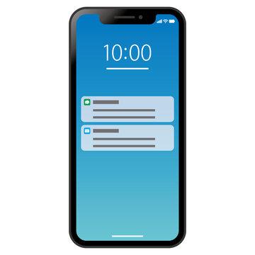 Mobile phone notifications スマホの通知