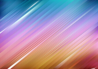 Shiny Pink Blue and Orange Diagonal Lines Abstract Background Wall mural