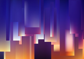 Blue and Orange Lines Stripes and Shapes Background Wall mural