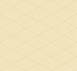 Fototapeta Japanese Dash Line Diamond Vector Seamless Pattern