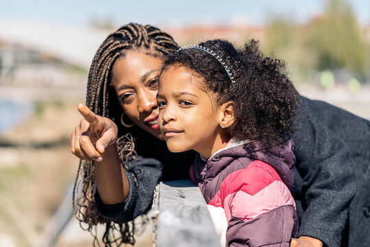 Afro Girl and her Mother Together