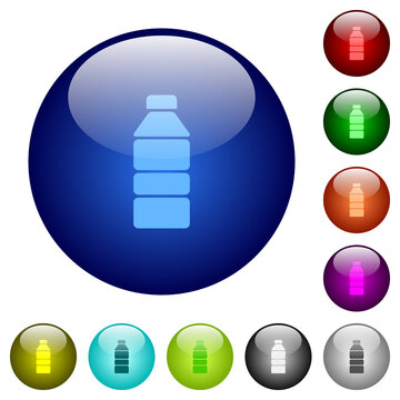 Water bottle color glass buttons