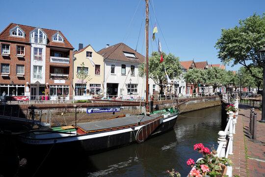 Westfleth von Buxtehude, Hansestadt, Niedersachsen, Deutschland, Europa --  Westfleth of Buxtehude, Hanseatic City, Lower Saxony, Germany, Europe