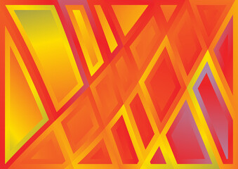 Abstract Geometric Red Yellow and Blue Background Image Wall mural