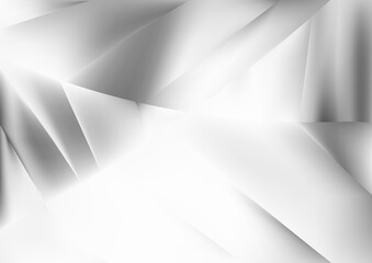 Abstract Grey and White Shiny Geometric Background Wall mural