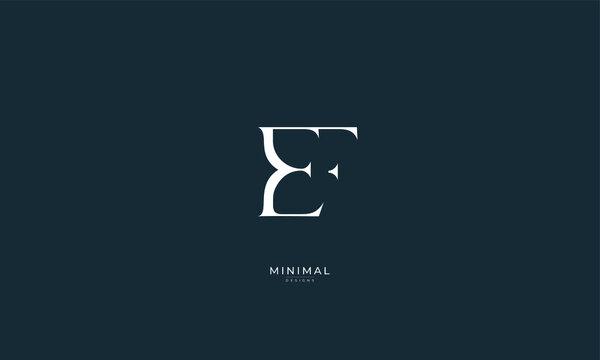 Alphabet letter icon logo EF