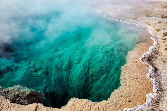Black Pool In the Yellowstone National Park. Wyoming. USA.