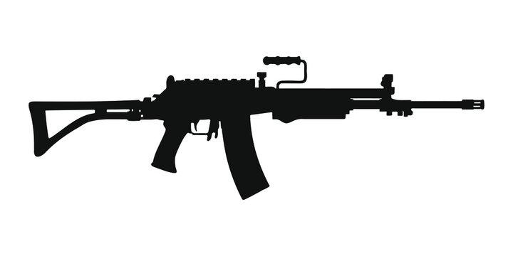assault rifle silhouette