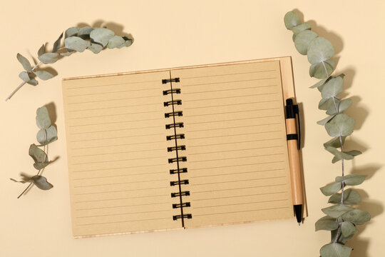 Empty notebook mockup