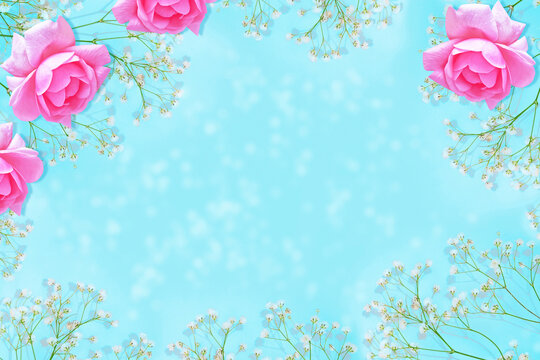 bright colorful flower. Abstract floral background.